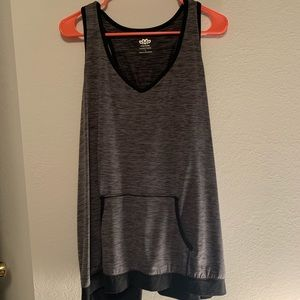 Activewear tank with pouch